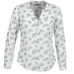Textiel Dames Overhemden Mustang FLOWER BLOUSE Wit / Blauw
