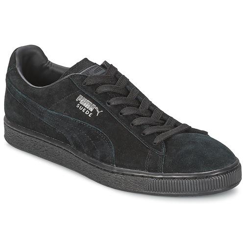 Schoenen Lage sneakers Puma SUEDE CLASSIC Zwart / Grijs