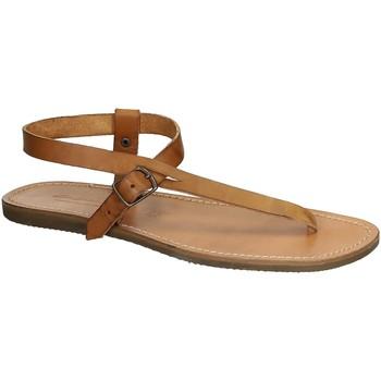 Schoenen Dames Sandalen / Open schoenen Gianluca - L'artigiano Del Cuoio 592 U CUOIO GOMMA Cuoio