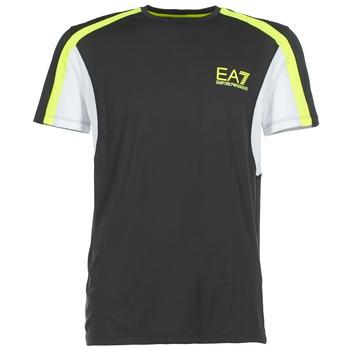 Textiel Heren T-shirts korte mouwen Emporio Armani EA7 VENTUS7 Zwart