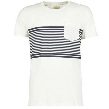 Textiel Heren T-shirts korte mouwen Selected LIAM Wit