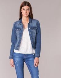 Textiel Dames Spijker jassen Only NEW WESTA Blauw / MEDIUM