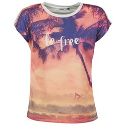 Textiel Dames T-shirts korte mouwen Only BE FREE SUMMER Multikleuren