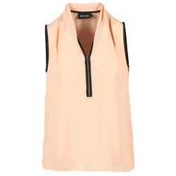 Textiel Dames Tops / Blousjes Only FIA ZIP Orange / Pastel / Zwart