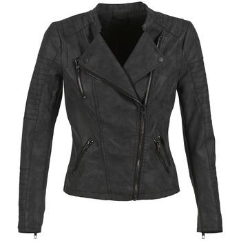 Textiel Dames Leren jas / kunstleren jas Only AVA Zwart