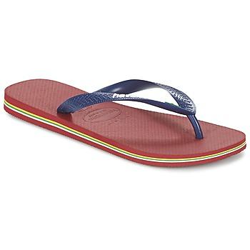 Schoenen Slippers Havaianas BRASIL LOGO Marine / Rood