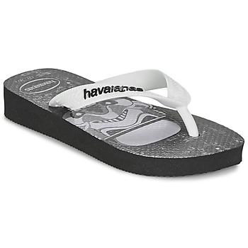 Schoenen Jongens Slippers Havaianas STAR WARS Zwart / Wit