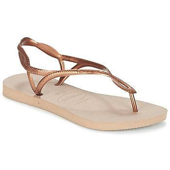 Schoenen Dames Slippers Havaianas LUNA Brons