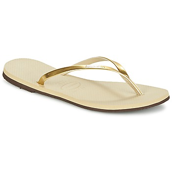 Schoenen Dames Slippers Havaianas YOU METALLIC Goud