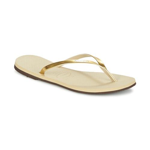Schoenen Dames Slippers Havaianas YOU METALLIC Goud