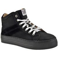 Schoenen Dames Hoge sneakers F. Milano  Zwart