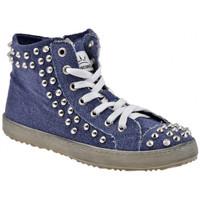 Schoenen Dames Hoge sneakers F. Milano  Blauw