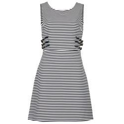 Textiel Dames Korte jurken Morgan RMARI Marine / Ecru