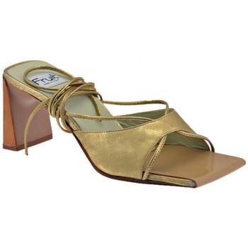 Schoenen Dames Leren slippers Now  Goud