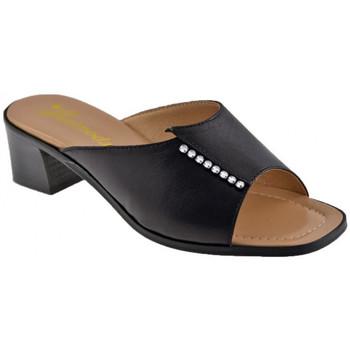 Schoenen Dames Leren slippers Susimoda  Zwart