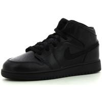 Schoenen Kinderen Hoge sneakers Nike 1 Mid BG Black / Black