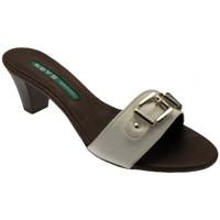 Schoenen Dames Leren slippers Keys  Wit