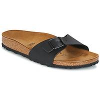 Schoenen Dames Leren slippers Birkenstock MADRID Zwart