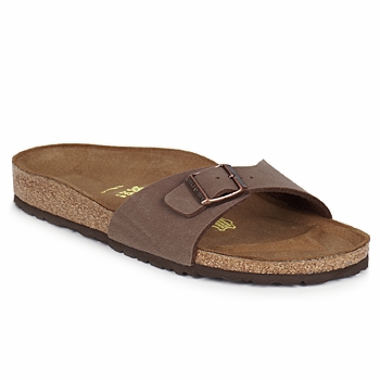 Schoenen Dames Leren slippers Birkenstock MADRID Brown