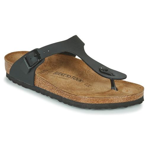 Schoenen Slippers Birkenstock GIZEH Zwart