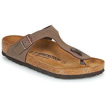 Schoenen Slippers Birkenstock GIZEH Brown