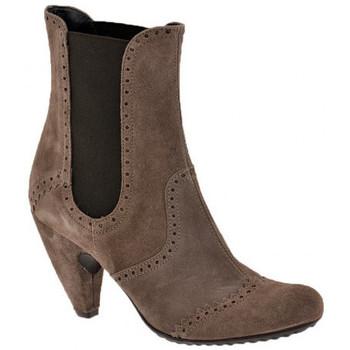 Schoenen Dames Enkellaarzen Ssamzie  Brown
