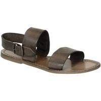Schoenen Dames Sandalen / Open schoenen Gianluca - L'artigiano Del Cuoio 500 D FANGO CUOIO Fango