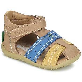 Schoenen Jongens Sandalen / Open schoenen Kickers BIGBAZAR Beige / Blauw / Geel