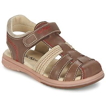 Schoenen Jongens Sandalen / Open schoenen Kickers PLATINIUM Brown