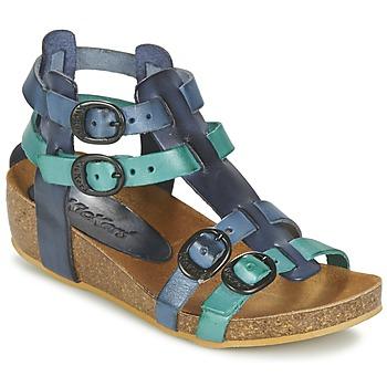 Schoenen Meisjes Sandalen / Open schoenen Kickers BOMDIA Blauw