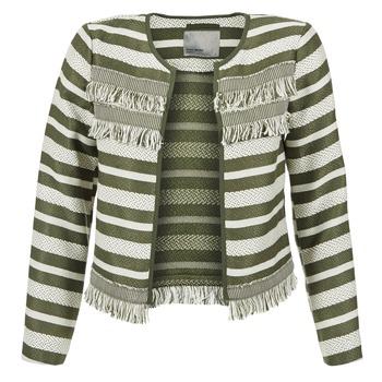 Textiel Dames Jasjes / Blazers Vero Moda FRILL Kaki / Ecru