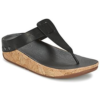 Schoenen Dames Slippers FitFlop IBIZA CORK Zwart