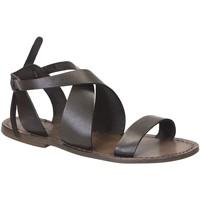 Schoenen Dames Sandalen / Open schoenen Gianluca - L'artigiano Del Cuoio 570 D FANGO CUOIO Fango