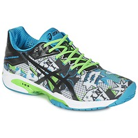 Schoenen Heren Tennis Asics GEL-SOLUTION SPEED 3 L.E. NYC Wit / Zwart / Blauw