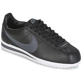 Schoenen Heren Lage sneakers Nike CLASSIC CORTEZ LEATHER Zwart / Grijs