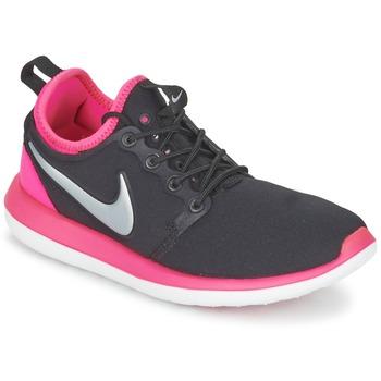 Schoenen Meisjes Lage sneakers Nike ROSHE TWO JUNIOR Zwart / Roze