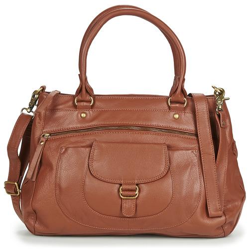 Tassen Dames Handtassen kort hengsel Betty London ETRAME Cognac
