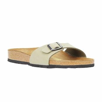 Schoenen Dames Leren slippers Birkenstock MADRID Kaki