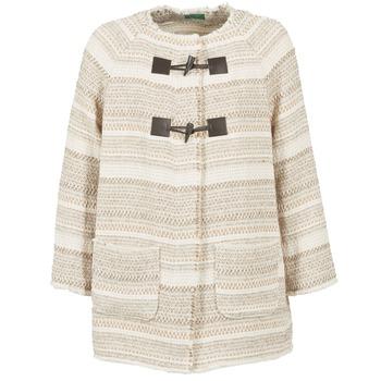 Textiel Dames Mantel jassen Benetton LUMO Beige