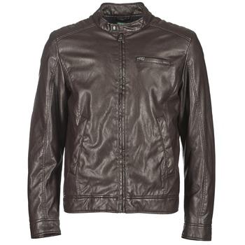 Textiel Heren Leren jas / kunstleren jas Benetton HOULO Brown