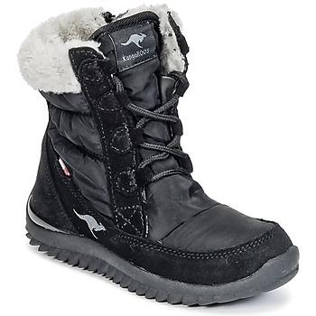 Schoenen Meisjes Snowboots Kangaroos CUPY JUNIOR Zwart