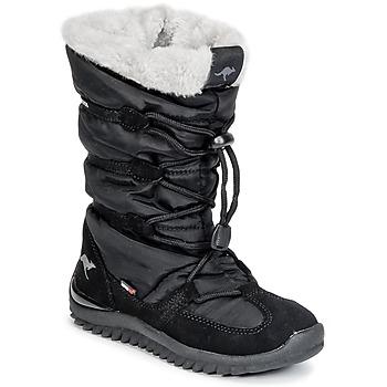 Schoenen Dames Snowboots Kangaroos PUFFY III JUNIOR Zwart
