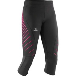 Textiel Dames Broeken / Pantalons Salomon Endurance 3/4 Tight W Zwart