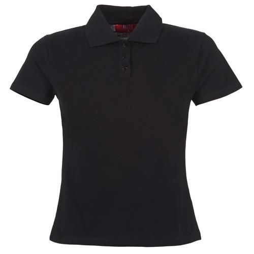 Textiel Dames Polo's korte mouwen BOTD ECLOVERA Zwart