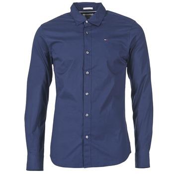 Textiel Heren Overhemden lange mouwen Tommy Jeans KANTERMI Marine