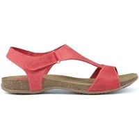 Schoenen Dames Sandalen / Open schoenen Interbios TUSSENTIJDS ANATOMISCHE SANDALEN 4420 RED
