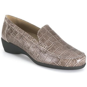 Schoenen Dames Mocassins Calzamedi TAUPE MOCASIN MARRON