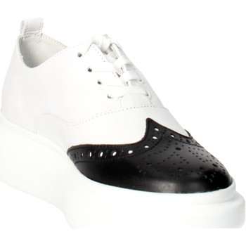 Schoenen Dames Derby Bronx 65554-D White/Black