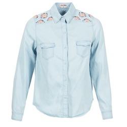 Textiel Dames Overhemden Yurban EGUATOULE Blauw / Clair