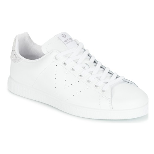 Schoenen Dames Lage sneakers Victoria DEPORTIVO BASKET PIEL Wit / Zilver